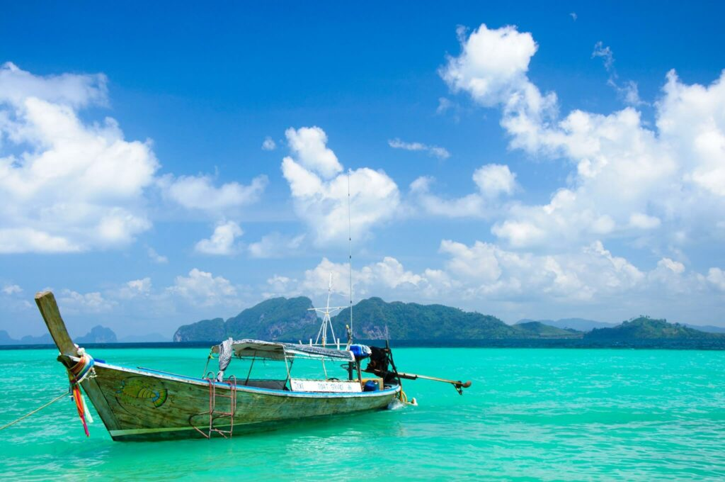 Wooden longtail boat in Koh Phi Phi, Thailand